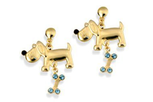 5233200014 Cute dog & bone earrings