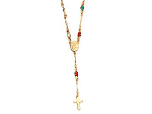 Coloured Rosary Necklace #5308294614