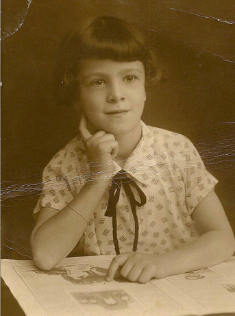 Pauline's half-sister Margot age 8, about 1928