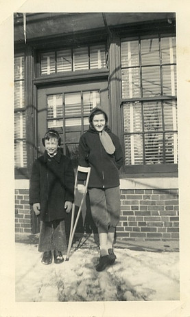 Pauline recovering from polio at Sigma Gamma rehabilitation facility