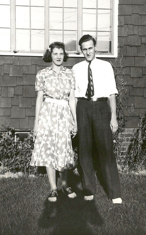 Pauline's half-sister Margot with her husband Fred Curry