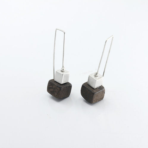 Cube on Cube Earrings