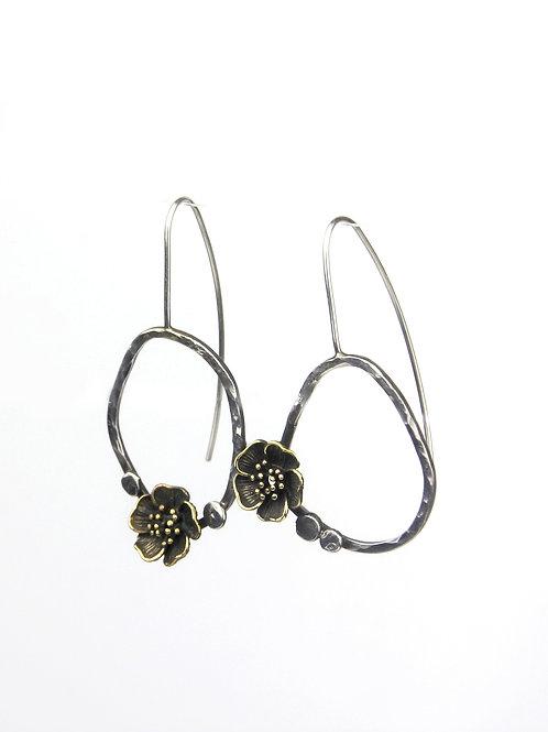 Asymmetrical Flower Earrings