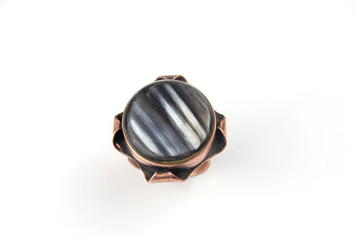 Copper and Horn Ring