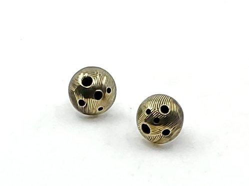 Moon Craters Stud Earrings