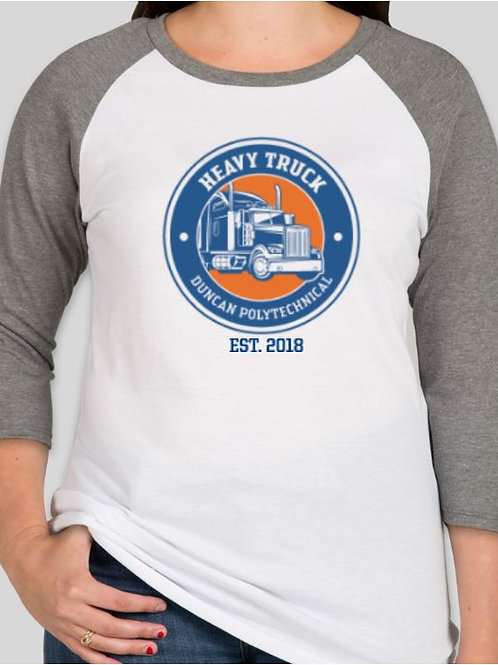 Heavy Truck Ladies Baseball Tee