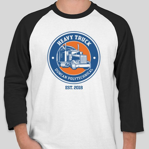 Heavy Truck Mens Baseball Tee