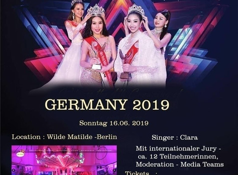 MISS WORLD TOURIST GERMANY 2019 & MISS WORLD NOBLE QUEEN GERMANY 2019