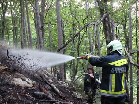 Waldbrand in Pottenstein