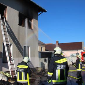 Wohnhausbrand in Grillenberg