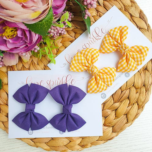 Cotton Double Pinch Bow