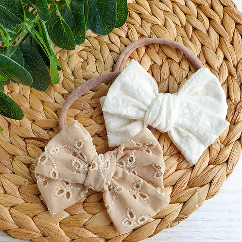 Embroidered Handtied Bows