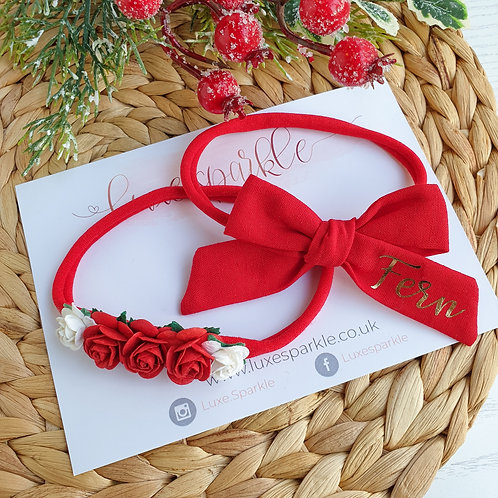 Personalised Small Bronte Bow
