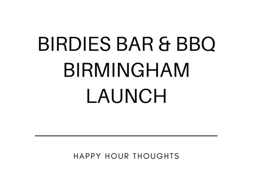 Birdies Bar & BBQ Birmingham Launch