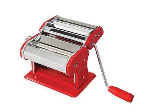 Avanti Pasta Making Machine Stainless Steel Spaghetti Fettuccine Chef Red