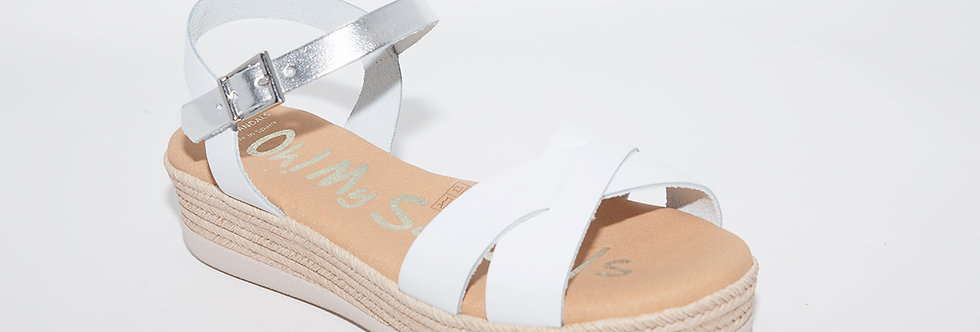 Oh My Sandals 4568 White/Silver