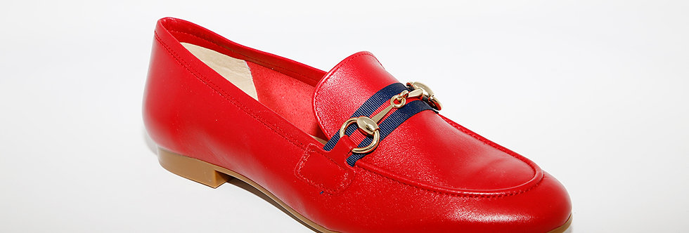 Maria Jean Red Leather