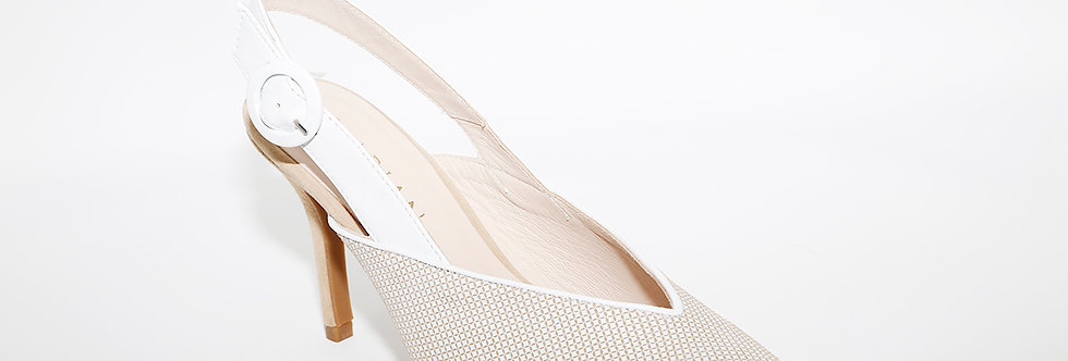 Marian 3823 Taupe/White