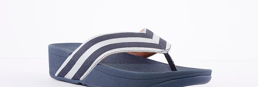 FitFlop Millie Stripe Navy Toe Post