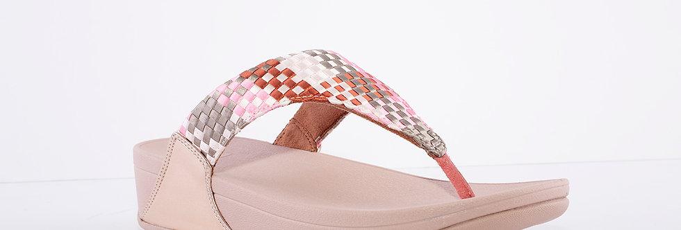Fitflop Lulu Pink Weave Toe Post