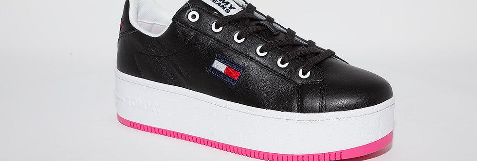 Tommy Hilfiger Black Iconic Flatform Sneakers