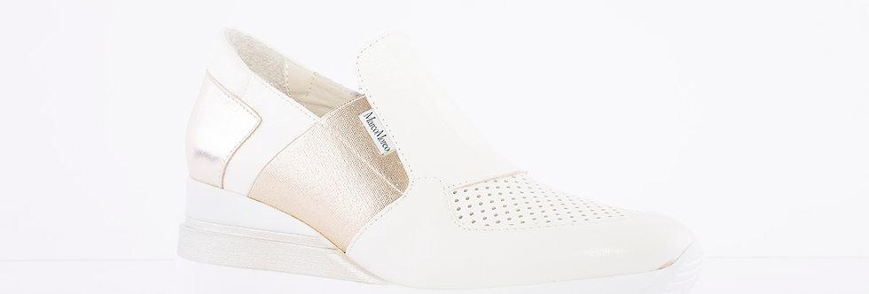 Marco Moreo - Cream/Gold Gianni Wedge Shoe