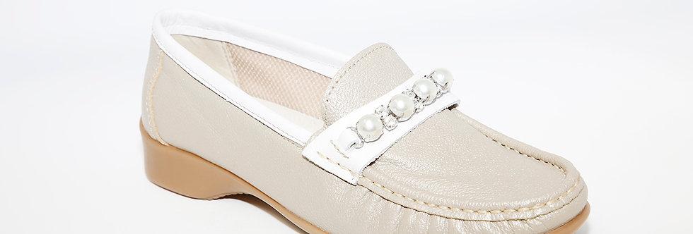 Teresa Torres Taupe/White Loafer