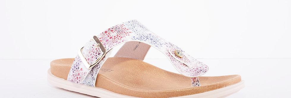 Heavenly Feet Isabel White Multi