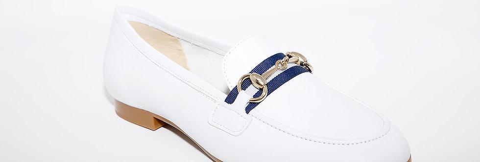 Maria Jean White Leather
