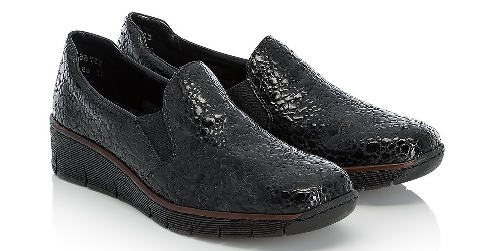 Rieker 53766-45 Black Croc