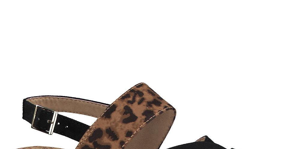 S.Oliver 28134 Black leopard combi