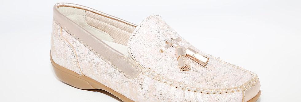 Teresa Torres Pink Tassel Loafer