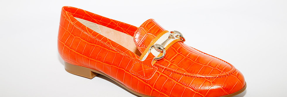 Maria Jean Orange Croc