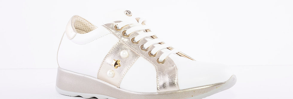 Pitillos 5621 White/Gold Laced