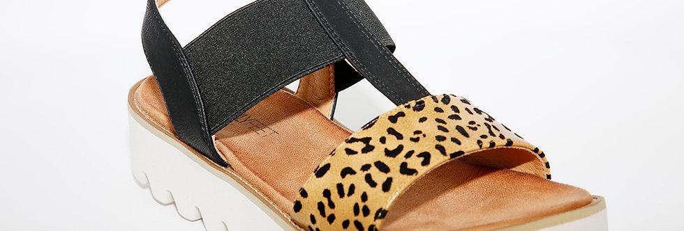 Heavenly Feet Ritz Black Leopard