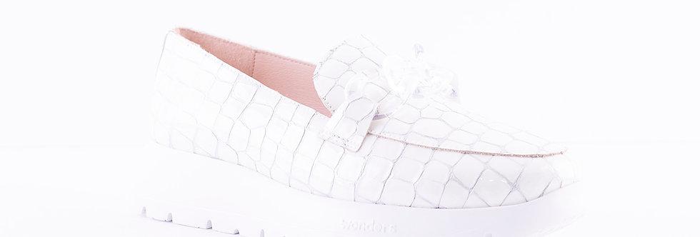 Wonders A-2405 White Patent Croc