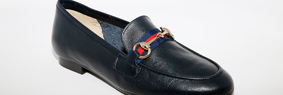 Maria Jean Navy Leather