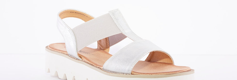 Heavenly Feet Ritz Silver/White
