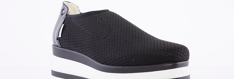 Marco Moreo - Black Fabric Luna Platform Shoe