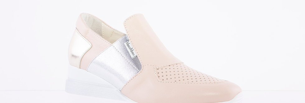 Marco Moreo - Pink/Silver Gianni Wedge Shoe
