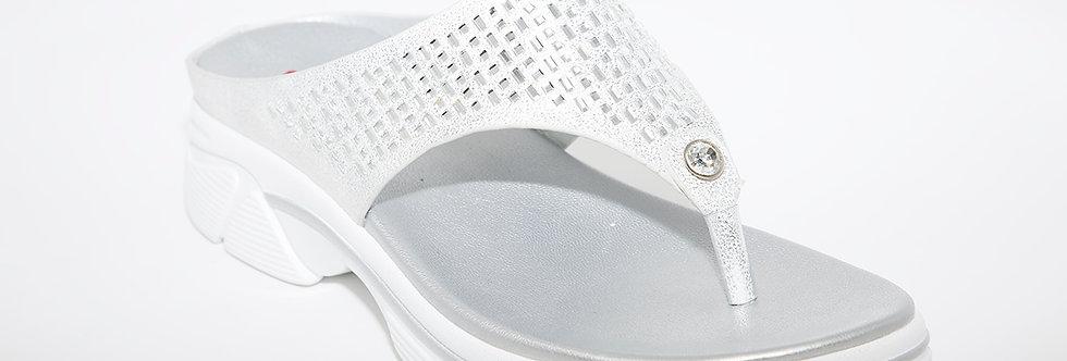 Heavenly Feet Sapphire Silver