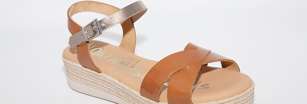 Oh My Sandals 4568 Tan/Gold