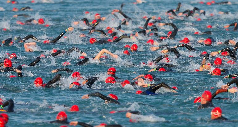 Ironman Triathlon Frankfurt, the swimstart