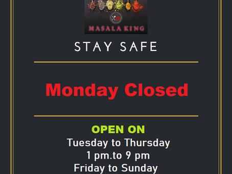 Monday Closed