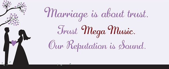 Trust Mega Music DJ Service for your Wedding Reception