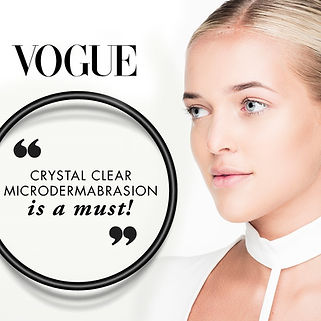 Vouge Magazine voted Microdermabrasion a MUST.