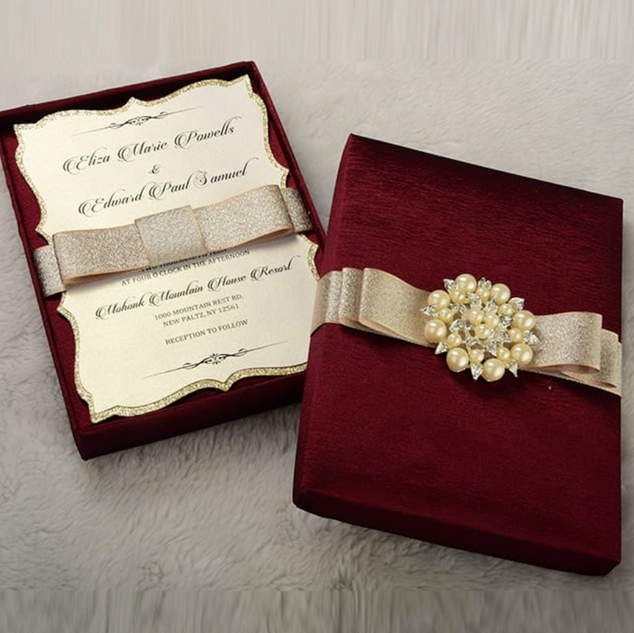 Wedding Invitations w/ Gift Boxes