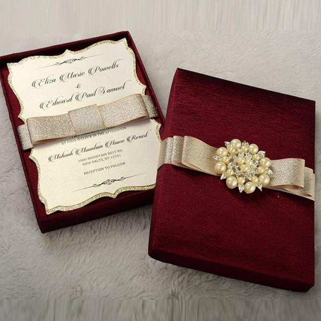 Wedding Invitations w/ Gift Boxes