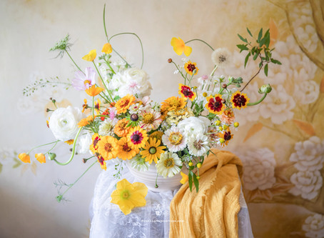 Yellow Color Themed Arrangement
