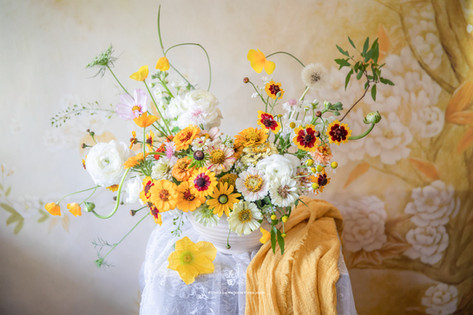 Yellow Color Themed Arrangement